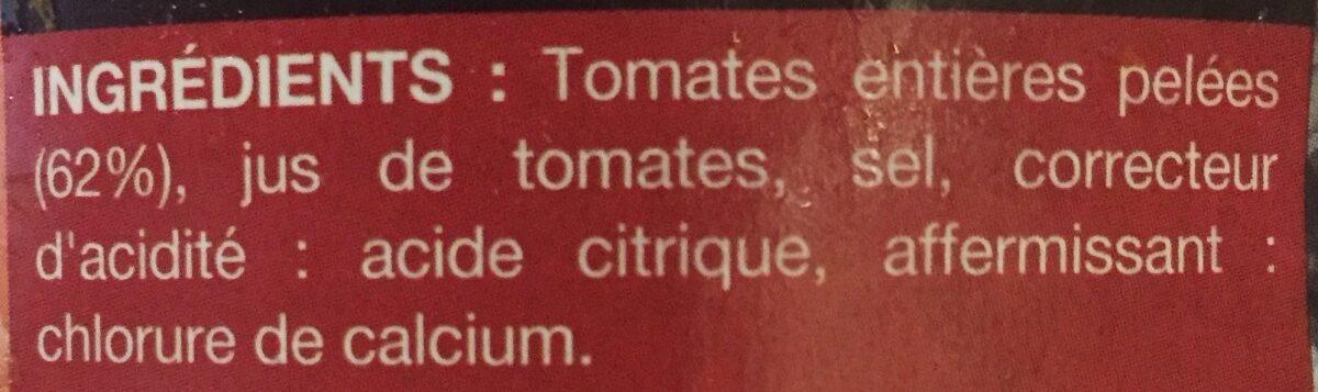 Tomates entières pelées au jus - Ingrediënten