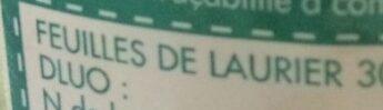Laurier Feuilles - Ingrédients - fr