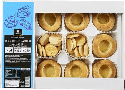 Bouchees traiteur au beurre avec chapeaux separes - Produit - fr