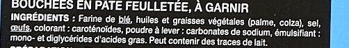 Bouchées traiteur - Ingrediënten - fr
