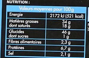 Bouchées traiteur - Voedingswaarden - fr