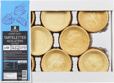 Tartelettes feuilletees neutres - Produit - fr