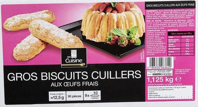 Gros biscuits cuillers  aux œufs frais - 2