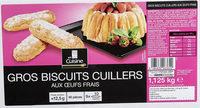 Gros biscuits cuillers  aux œufs frais - Produit - fr