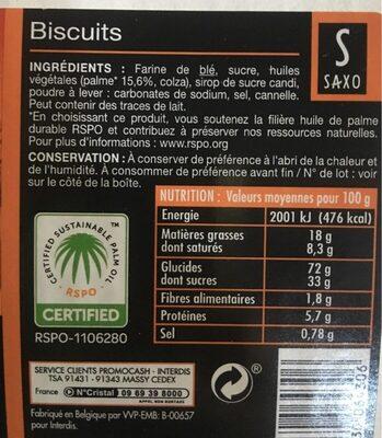 6GX300 Speculos Saxo - Ingredienti - fr