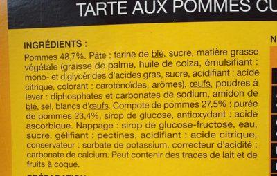 Tarte aux pommes cuite surgelée - Ingredienti - fr