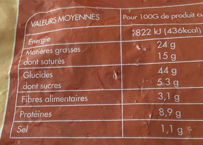 Croissants - Nutrition facts - fr