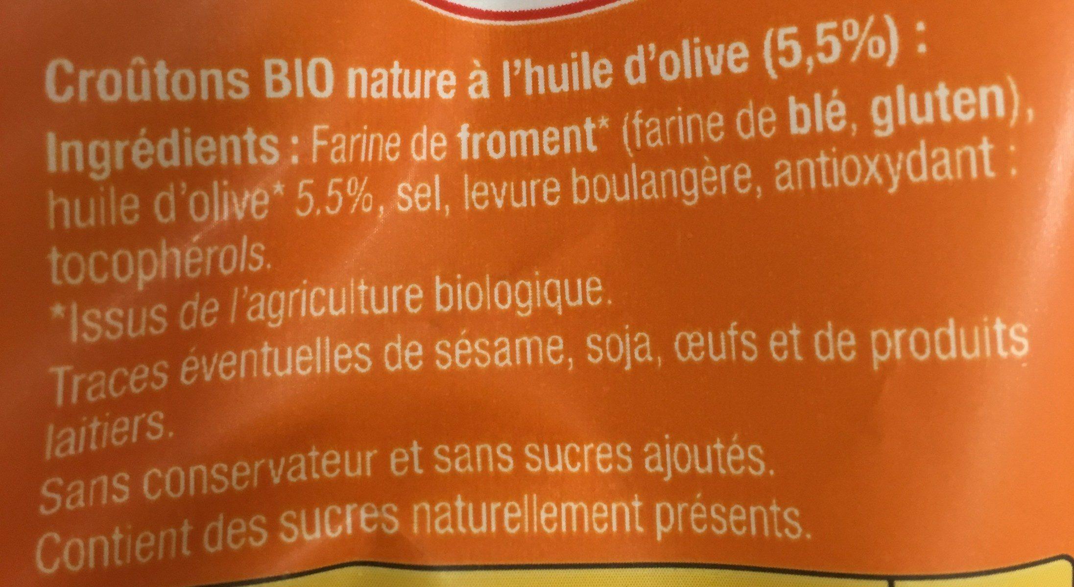 Croutons Nature bio - Ingrédients
