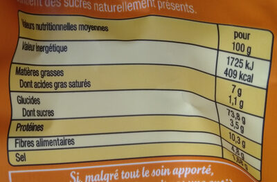 Croutons Nature bio - Informations nutritionnelles