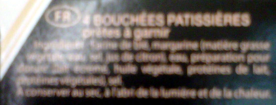 4 Bouchées Pâtissières - Ingrediënten