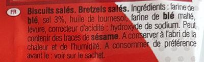 Sachet Mini Bretzels - Ingrédients