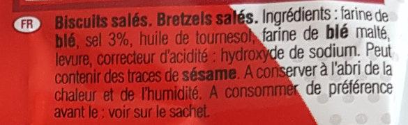 Sachet Mini Bretzels - Ingrédients - fr