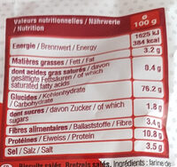 Sachet Mini Bretzels - Nutrition facts