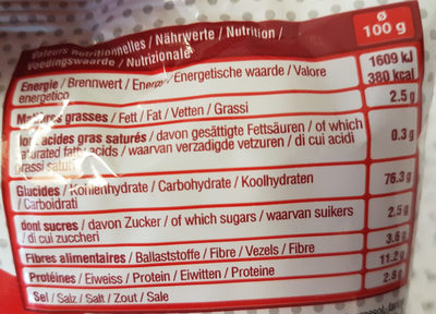 Sachet sticks - Nutrition facts