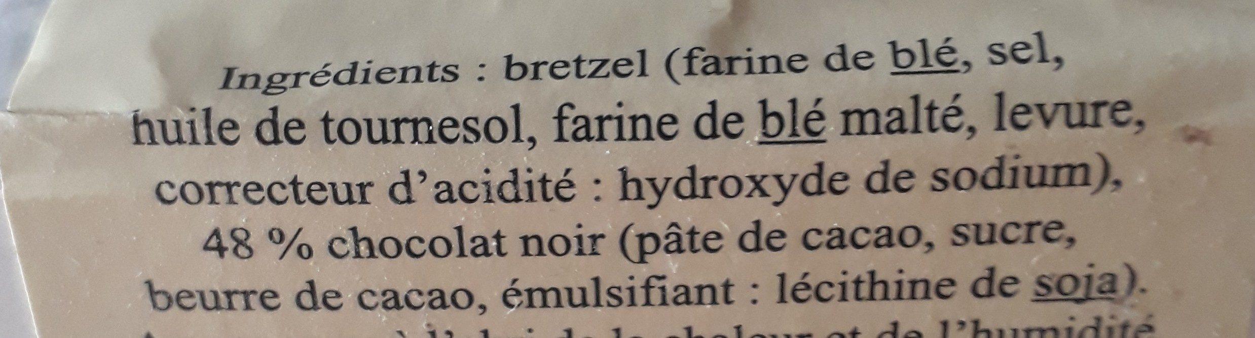 Sachet bretzels au chocolat noir - Ingrédients - fr