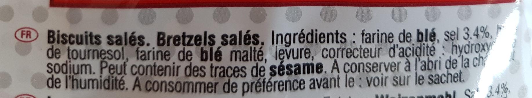 Sachet bretzels moyennes - Ingrédients - fr