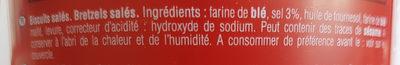 Tubo Sticks & Bretzels - Ingredients - fr