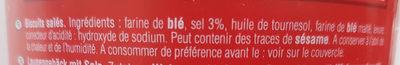 Tubo sticks/bretzels - Ingrédients - fr