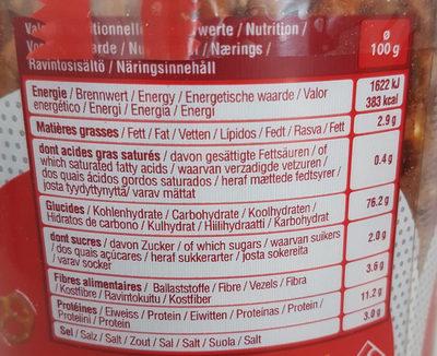 Tubo sticks/bretzels - Informations nutritionnelles - fr