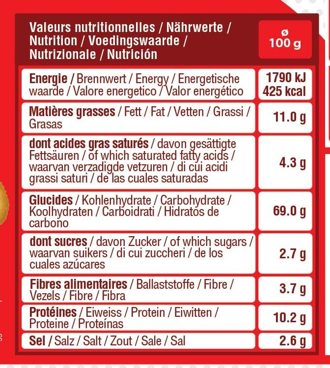Cubi assortiment cocktail - Informations nutritionnelles - fr