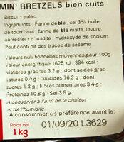 """Sac vrac mini bretzels """"fournée spéciale bien cuits"""" - Ingredients"""