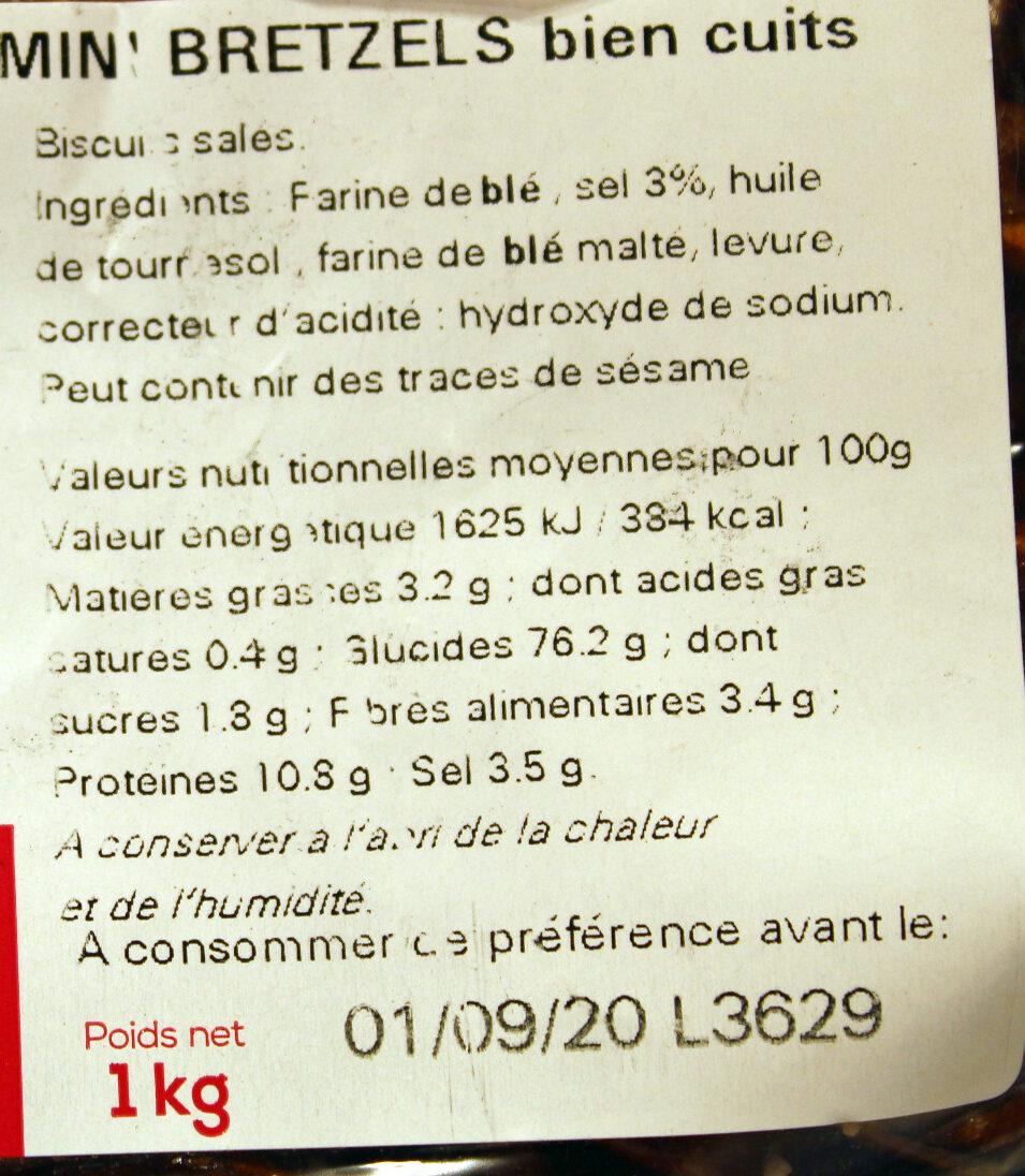 """Sac vrac mini bretzels """"fournée spéciale bien cuits"""" - Ingrédients"""