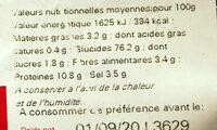 """Sac vrac mini bretzels """"fournée spéciale bien cuits"""" - Nutrition facts"""