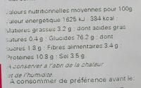 Sachet vrac Mini Bretzels - Informations nutritionnelles - fr