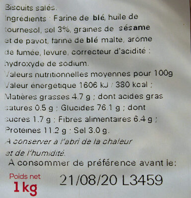 Sachet vrac Rondzels - Ingredients