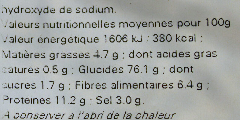 Sachet vrac Rondzels - Nutrition facts