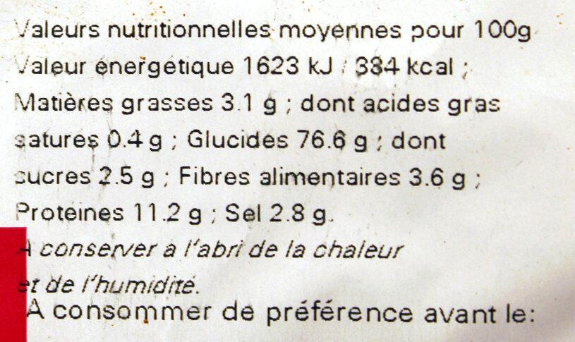 Sac vrac mini sticks - Nutrition facts