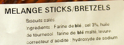 Sac vrac mélange Sticks et Bretzels - Ingredients