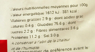 Sac vrac mélange Sticks et Bretzels - Nutrition facts