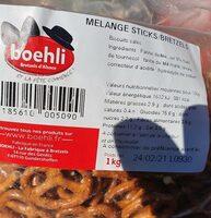 Sachet vrac mélange sticks/bretzels - Informations nutritionnelles - fr
