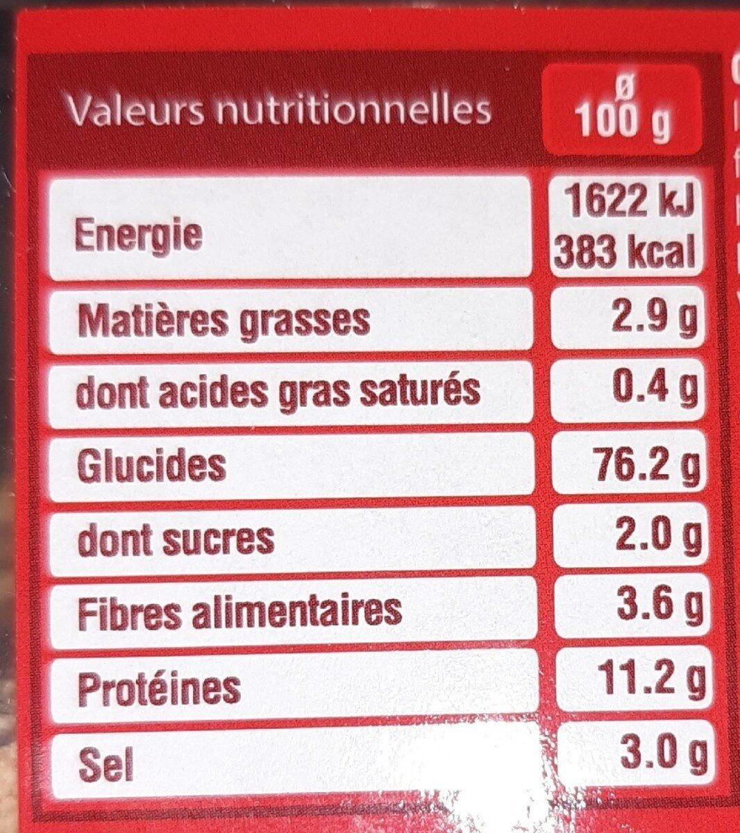 Cubi chapelure de sticks/bretzels - Informations nutritionnelles - fr