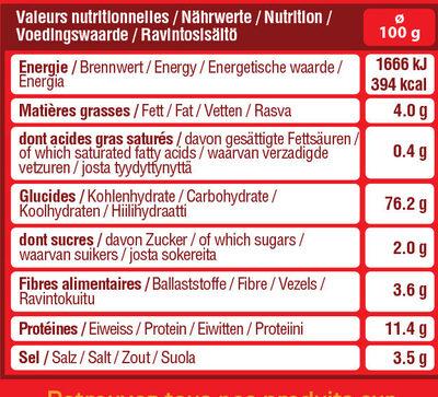 Sac bretzels moyennes - Nutrition facts