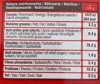 Seau mini bretzels - Informations nutritionnelles - fr