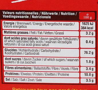 Seau mini bretzels - Informations nutritionnelles