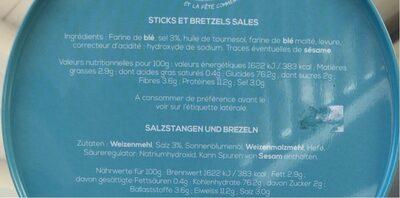 Boîte collector avec tubo sticks/bretzels - printemps - Informations nutritionnelles - fr