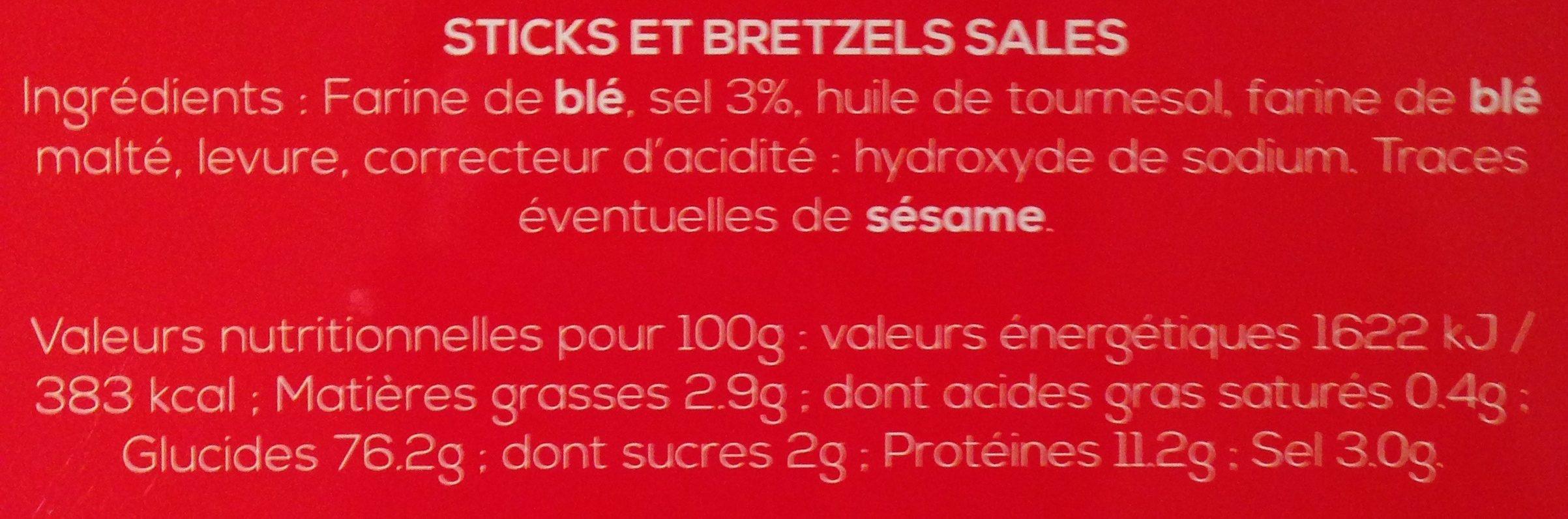 Boîte collector avec tubo sticks/bretzels - hiver - Informations nutritionnelles - fr