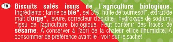 Mini Bretzels bio - Ingrédients - fr