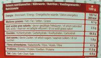 Etui 10 grandes bretzels - Informations nutritionnelles - fr
