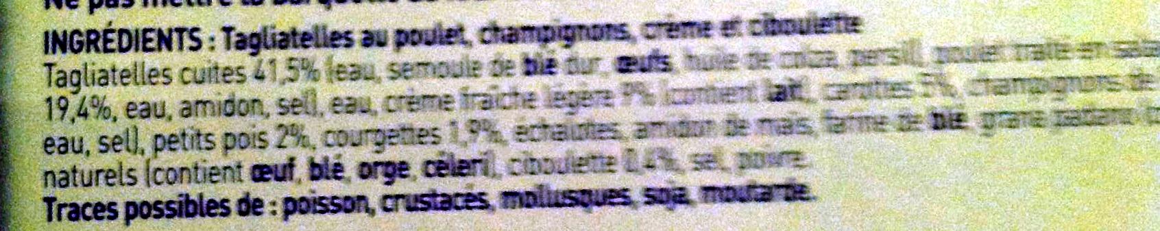 Tagliatelles au poulet - Ingrédients - fr