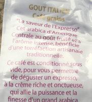 Café Goût Italien en Grains - Ingredienti - fr