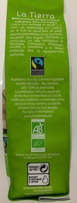 Café bio grains La Tierra Malongo - Ingrediënten