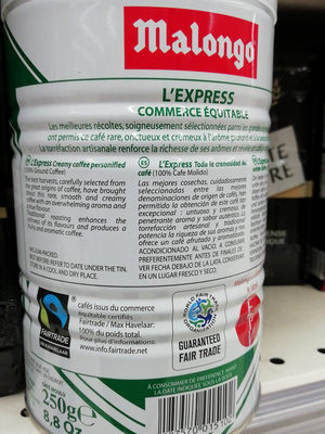 L'express pur arabica - Ingredients