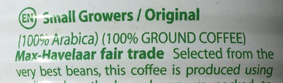Café moulu pur arabica - Ingredients