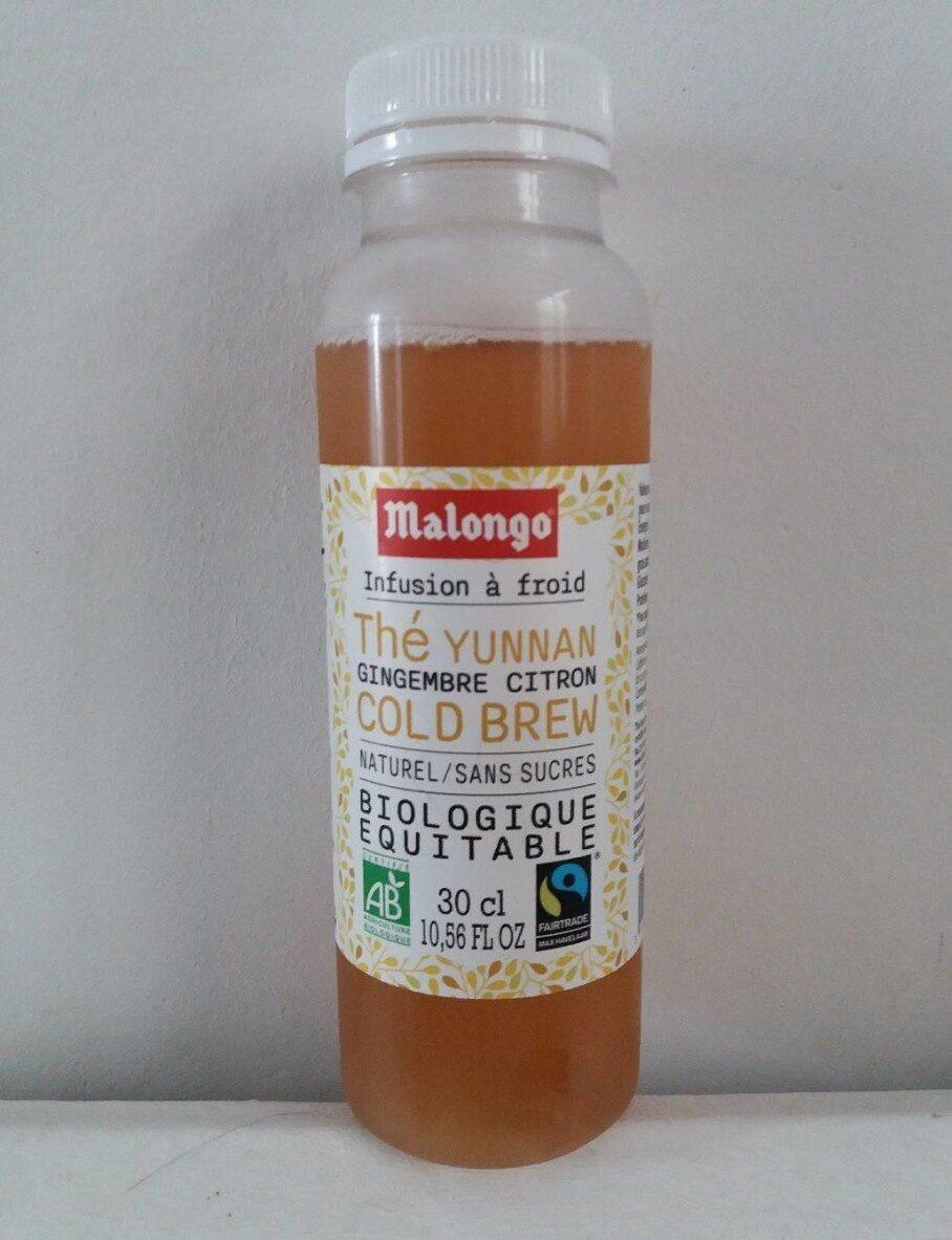 Infusion à froid / Thé Yunnan, Gingembre, Citron / Sans sucres - Prodotto - fr