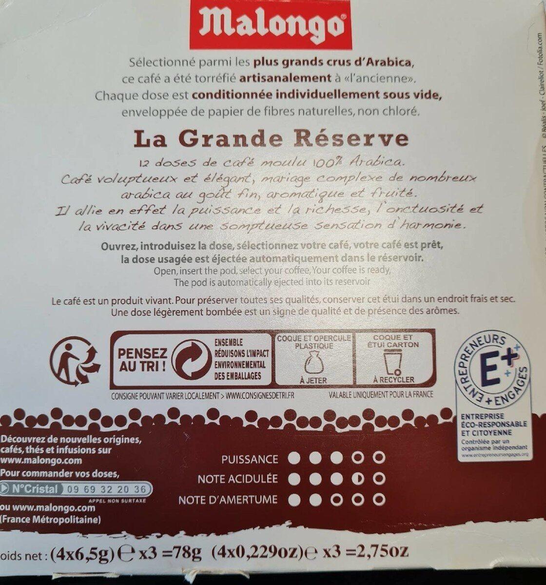 La grande réserve - Valori nutrizionali - fr