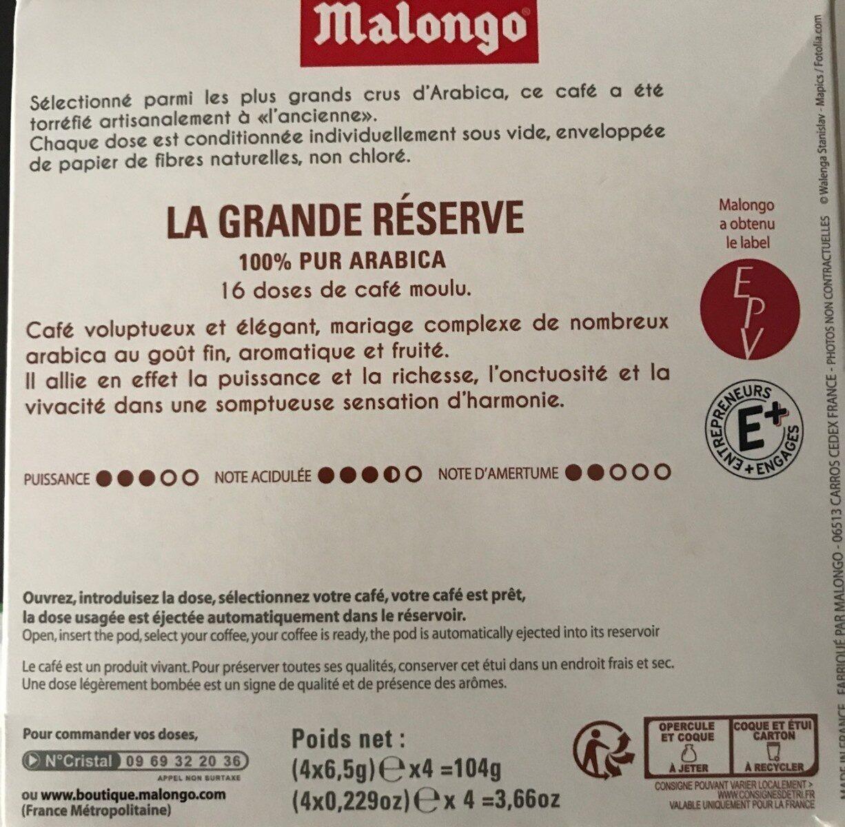 La grande Reserve - Valori nutrizionali - fr